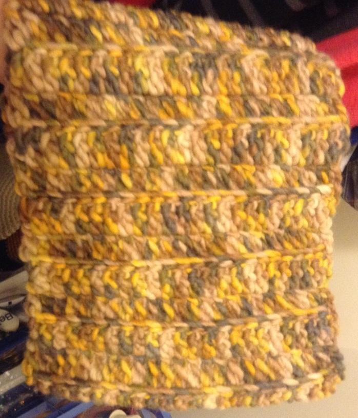 Wool neck wrap