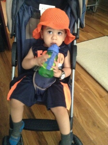 orange toddler sun hat $15