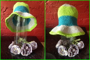 Grey, Green, & Blue Sun Hat $20