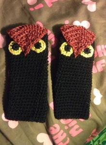 black owl gloves $20