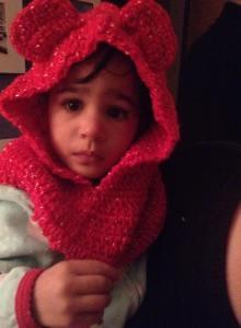 Girly bear hoodie $30