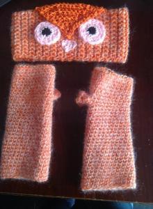 owl headband $12 furry gloves $15